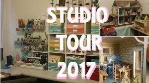 karen u0027s creative workspace 2017 art studio and craft room tour