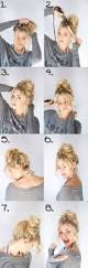 hairstyles easy to do for medium length hair 21 perfectly easy messy bun hair tutorials gurl com