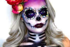 Day Of The Dead Halloween Makeup Ideas Sugar Skull Tutorial Dia De Los Muertos Youtube