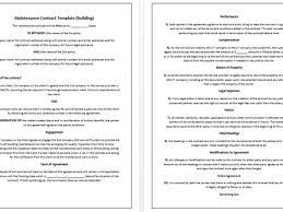 12 building contract agreement template cleaning contract for