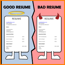 Example Of Bad Resume Awesome Good Vs Bad Resume Pictures Simple Resume Office