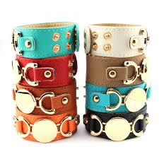 monogrammed bangle bracelet buy blank leather bracelets and get free shipping on aliexpress