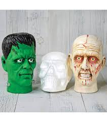 styro halloween heads diy halloween crafts halloween with