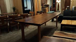 Maple Table And Chairs Live Edge Table And Furniture Showroom In The Chicago Area
