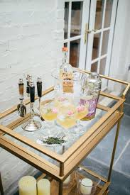 summer time cocktails bar cart fashionable hostess fashionable