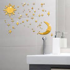 new arrivals sun moon stars stickers 3d stereo diy environmentally