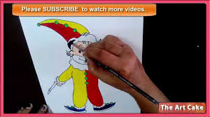 joker drawing how to draw and color the joker in easy steps youtube