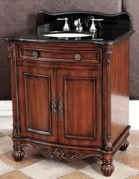 32 inch single sink bathroom vanity with black granite top 32 or