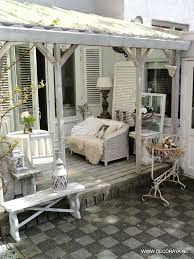 shabby chic patio decor patio i love this idea gives you somewhere to sit outside even