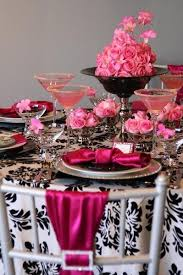 fuschia pink table cloth 53 black white and pink wedding table settings 58 elegant black and