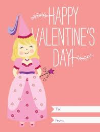 kids valentines cards printable princess kids valentines card template