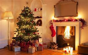 christmas celebrations festival decorations tips of farm house