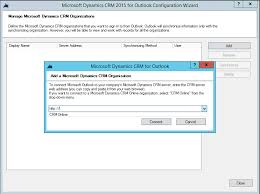 Microsoft Office Outlook Help Desk Microsoft Dynamics Crm For Outlook 2015 Configuration Wizard