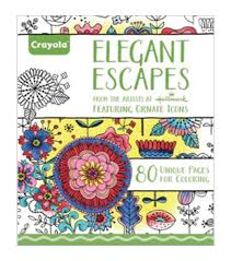crayola elegant escapes coloring book coloring books and