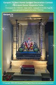 Home Decoration Videos Vijayendra Tarke Home Ganpati Picture 2016 View More Pictures And