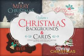 christmas background u0026 cards vol 1 card templates creative market