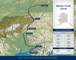 Amtrak Route Map Usa by Alaska Railroad Travel Denali Star Train Route Map Anchorage