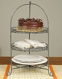 metal cake stand three tier cake dessert stand galvanized finish metal