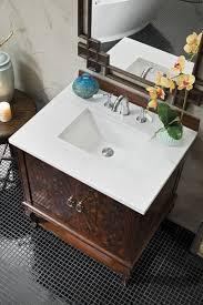 31 inch single bathroom vanity dark amber finish with arctic fall