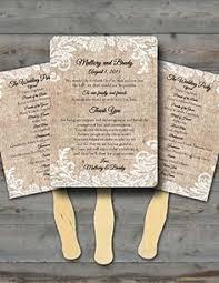 burlap wedding programs rustic birds burlap fan wedding program 3 00 via etsy