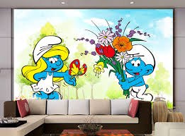 custom de parede infantil papel cartoon blue wizard murals for