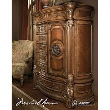 Aico Furniture Bedroom Sets by Michael Amini 5pc Villa Valencia California King Size Canopy
