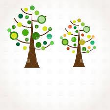 stylized retro tree vector clipart image 21818 rfclipart