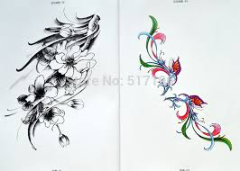 new chinese tattoo books flower bat wolf butterfly star ghost