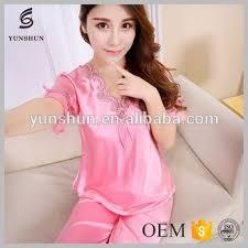 romantic silk pajamas transparent dress nighty