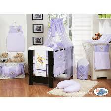 chambre bébé violet lit et parure de lit bébé bonne nuit violet mobilier chambre bébé