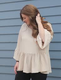 blouse ruffles ruffle sleeve peplum blouses true bias