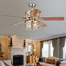 living room ceiling fan ceiling fan crystal chandelier wayfair