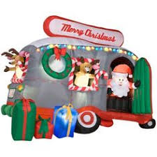 Blow Up Christmas Decorations Grinch by Gemmy Animated Airblown Inflatable Christmas Santa U0027s Snack Wagon