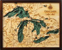 Elevation Map Of Michigan by The Beauty Of Hand Crafted Laser Cut Wood Charts And Where They
