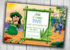 Birthday Party Cards Invitations Lilo U0026 Stitch Birthday Invitations Birthday Party Card Digital