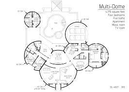 floor plan dl 4607 monolithic dome institute