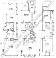residential home floor plans three story townhouse floor plan