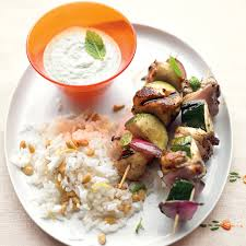 greek thanksgiving grilled greek chicken kebabs with mint feta sauce