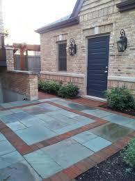 Chicago Patio Design by Bluestone With A Clay Paver Border Bluestone Hardscape Paver