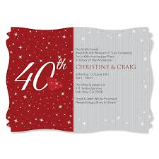40th wedding anniversary invitations plumegiant com