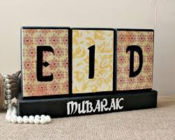 eid decoration home decor wood blocks eid festival ramadan