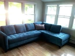 navy blue velvet chaise lounge sofa in navy blue velvet by 2