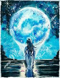 moon goddess print mann spirit