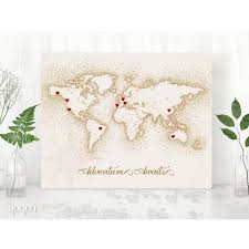 Diy World Map by World Map Print Vintage Brown Dots Stickers Included U2013 Yoyen