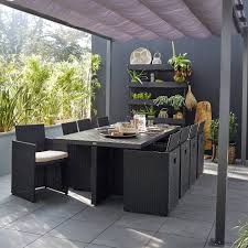 Meuble Salon Noir Et Blanc by Salon De Jardin Table Et Chaise Mobilier De Jardin Leroy Merlin