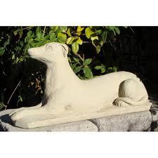 cania international antique greyhound garden statue hayneedle