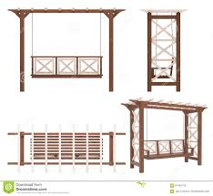 garden park pergola swing stock illustration image 67449729