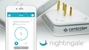 White Noise Machine For Bedroom Nightingale The First Smart Home Sleep System By Cambridge Sound