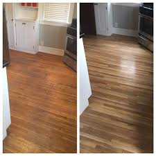 Refinished Hardwood Floors Before And After Before And After Floor Refinishing Looks Amazing Floor