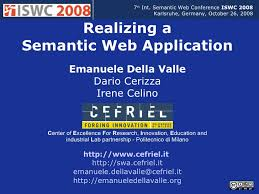 tutorial web c developing a semantic web application iswc 2008 tutorial